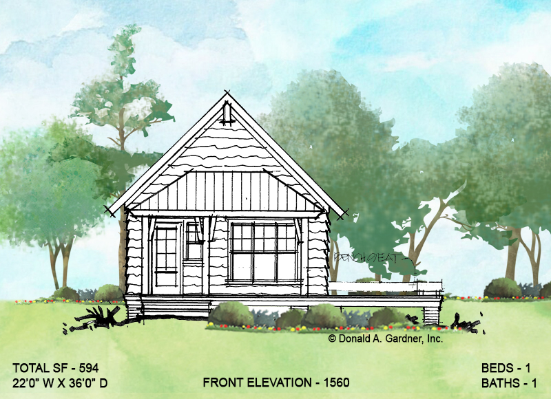 Front elevation of conceptual design 1560.