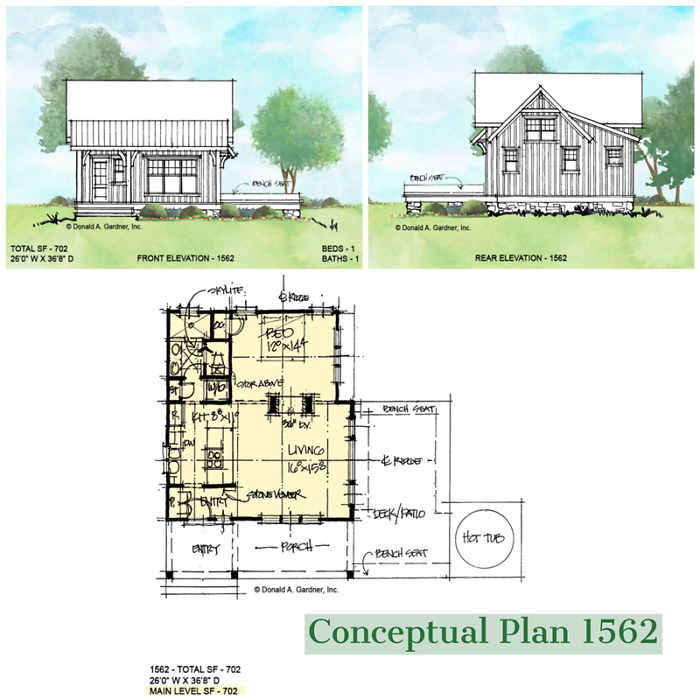 Conceptual plan 1562 is an income producing small house plan.