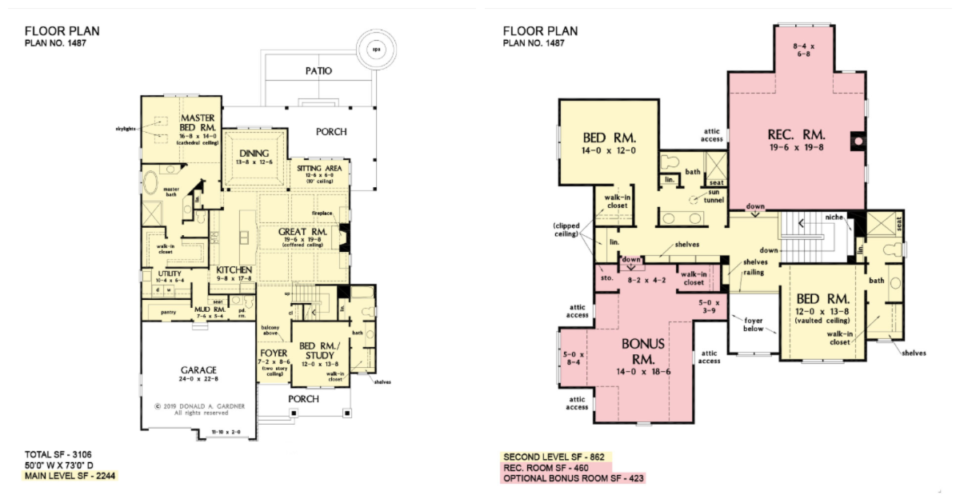 The Lupine house plan 1487 has direct access from the master closet to the utility room.