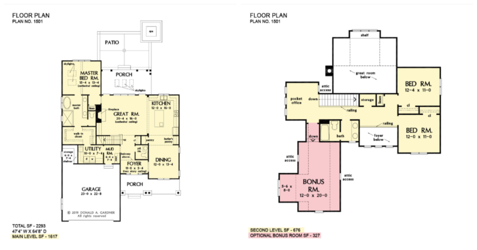 The Applecross house plan 1501.