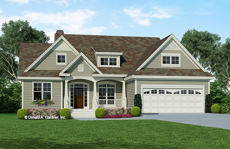 Front rendering of The Prairiefield plan 1069.