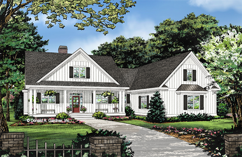 Front rendering of The Ashbry house plan 1506.