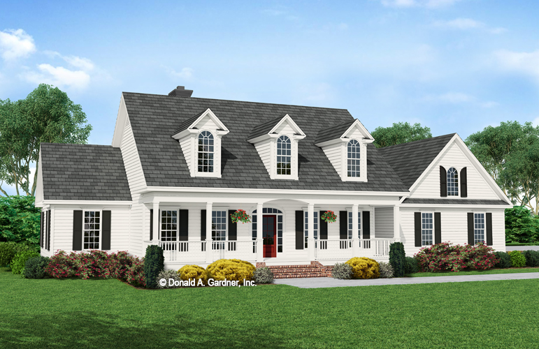 Front rendering of The Jasmine house plan 509.