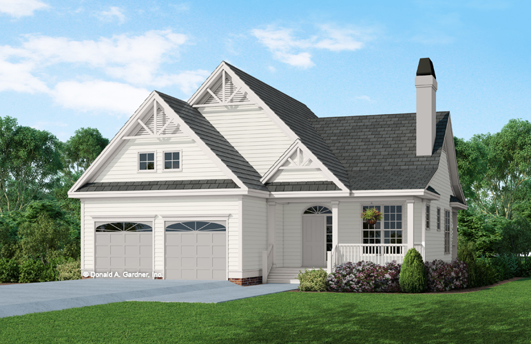 Front elevation of The Aurora house plan 708.