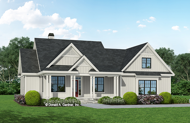 Front rendering of The Virgil house plan 1564.