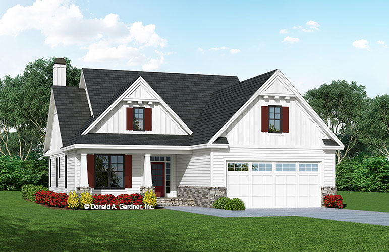 Front rendering of The Artemis house plan 1556.