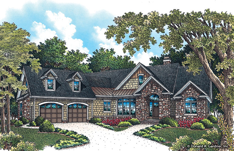 Front rendering of The Bluestone plan 1302.
