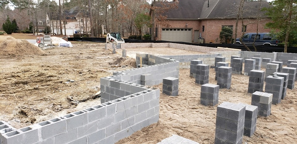 Foundation of The Bluestone house plan 1302.
