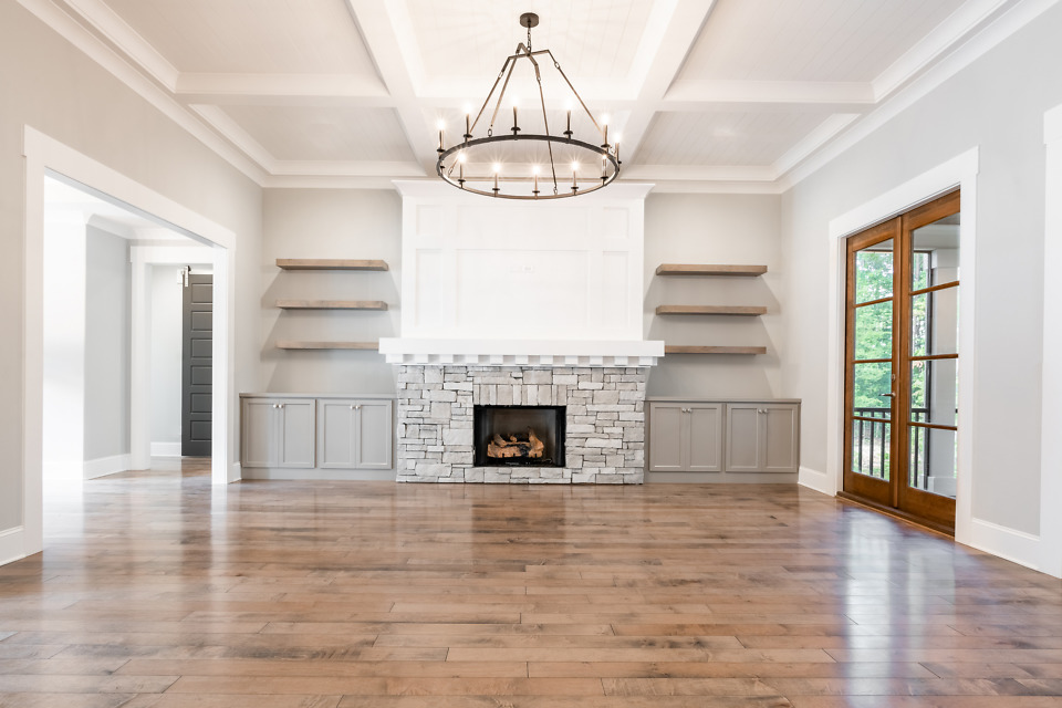 Great room of The St. Jude 2020 dream home, The Oliver.