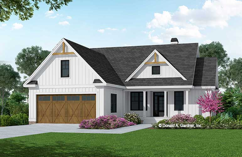 Front rendering of The Gemma house plan 1587.