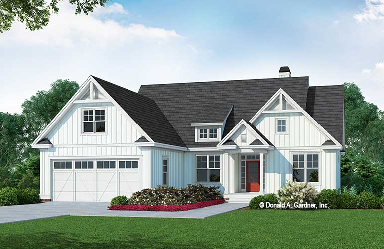 Front rendering of The Rilynn House Plan 1589.