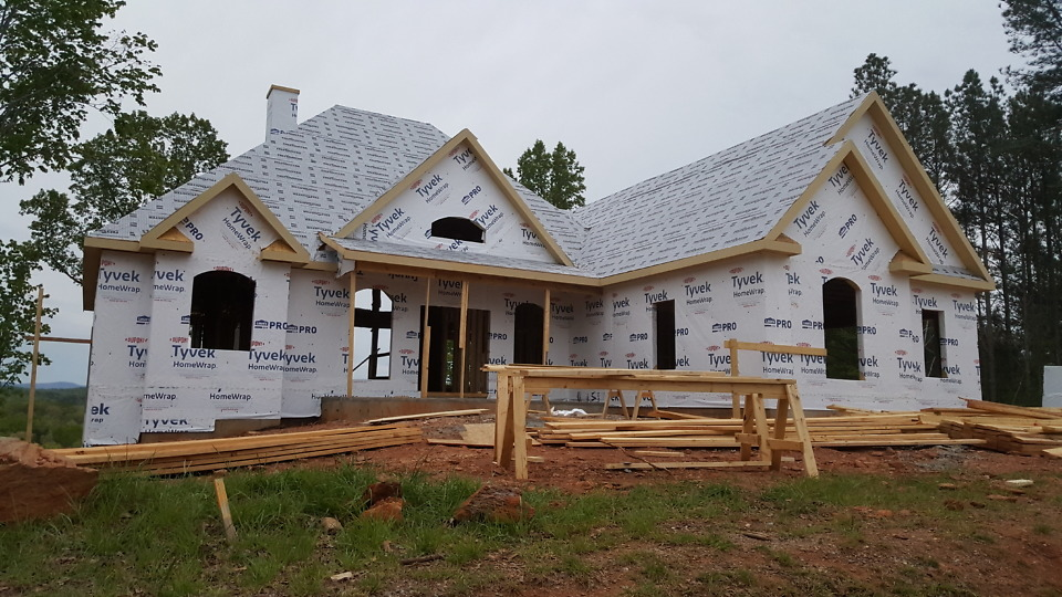 House wrap on The Somersby Plan 1143-D.