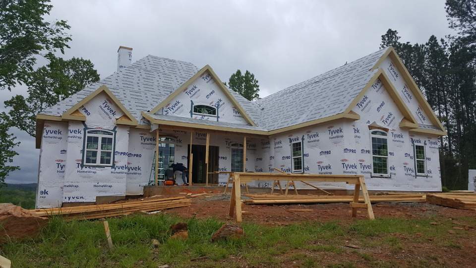 Windows going in on The Somersby Plan 1143-D.