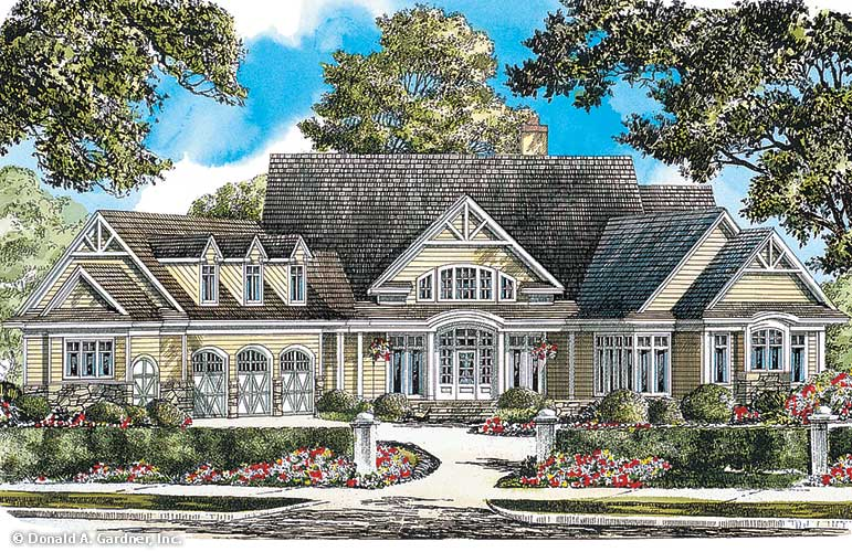 Front rendering of The Crowne Canyon Plan 732-D.
