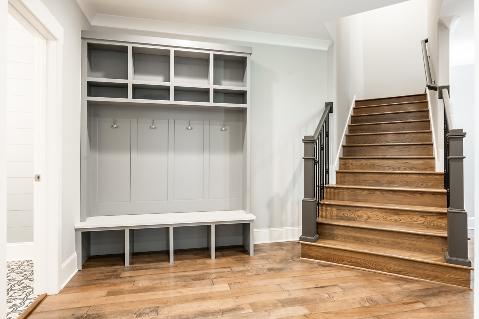 Mudroom of The St. Jude 2020 dream home, The Oliver.