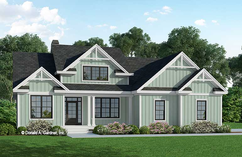 Front rendering of The Adele house plan 1352.