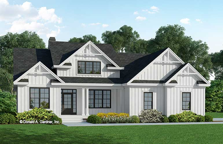 Front rendering of The Cordelia house plan 1353.