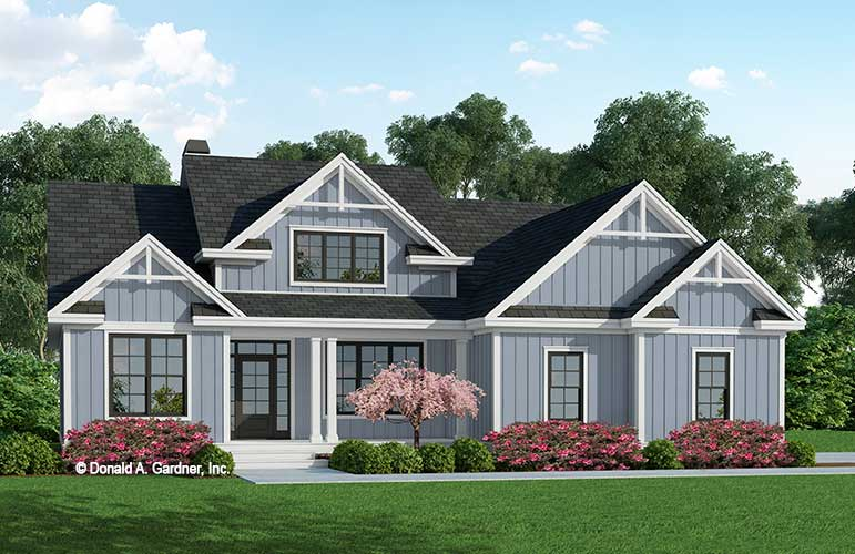Front rendering of The Delphine house plan 1354.