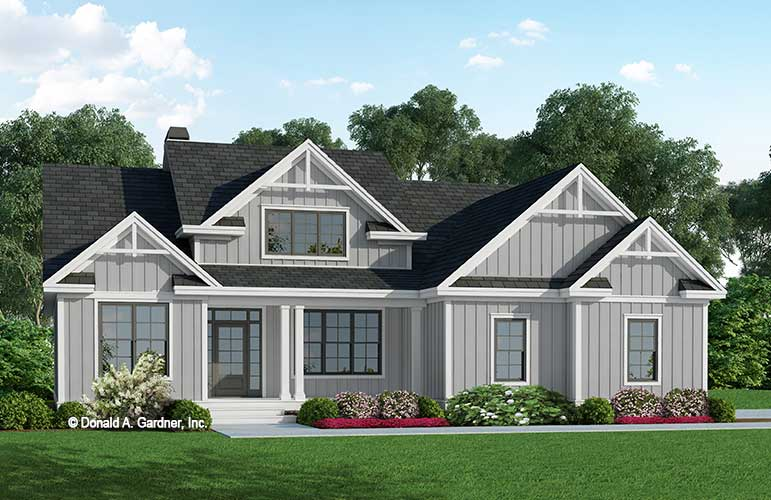 Front rendering of The Josephine house plan 1355!