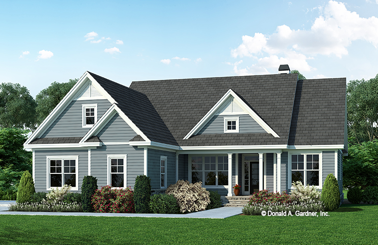 Front rendering of The Henriette house plan 1563.