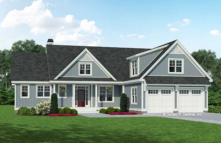 Front rendering of house plan 1565 The Wilfred.