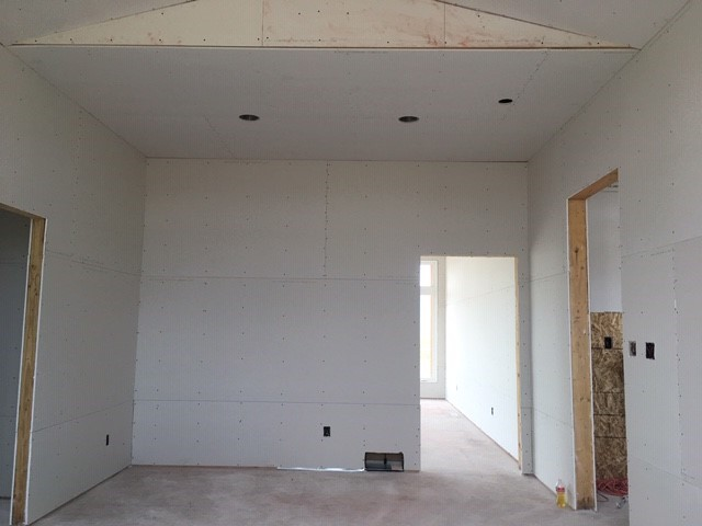Drywall of The Ridley house plan 1466.