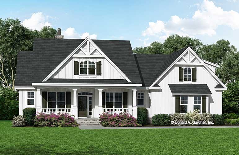 Front rendering of The Karina house plan 1381.