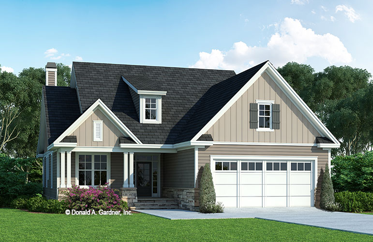 Front rendering of The Millicent house plan 1559.