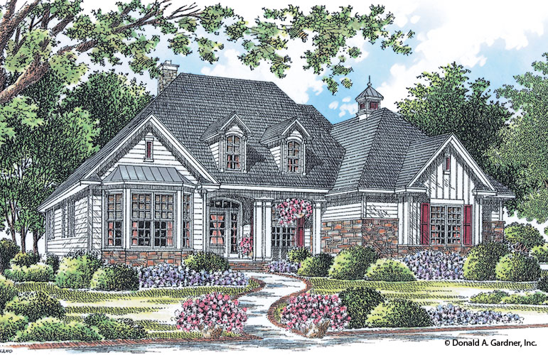 Front rendering of The Weatherford plan 1053.