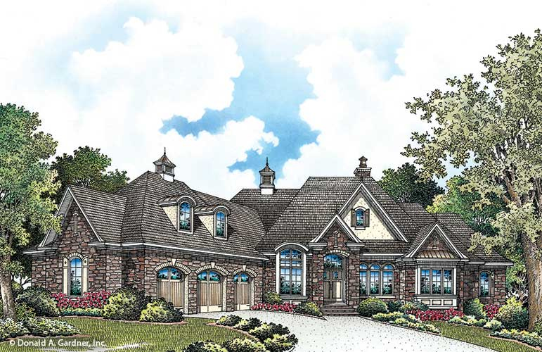 Front rendering of The Capistrano plan 1227-D.