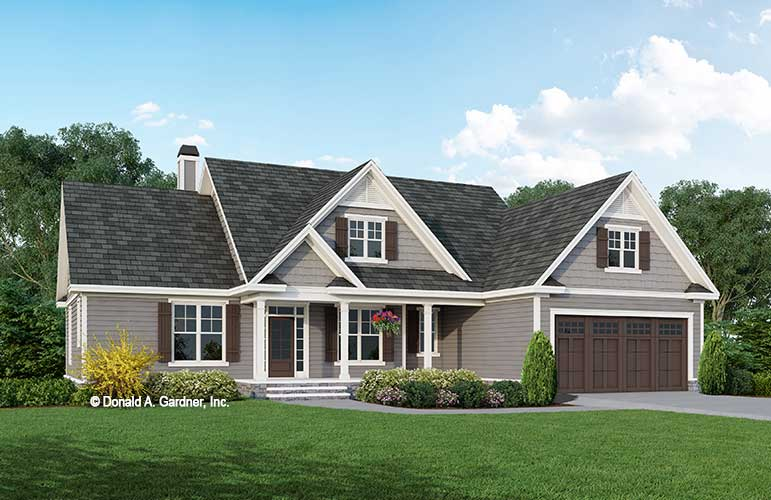Front rendering of The Marisol house plan 1547.