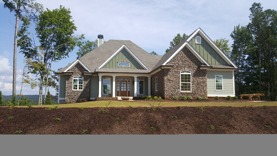 Exterior finishes of The Somersby House Plan 1143-D.