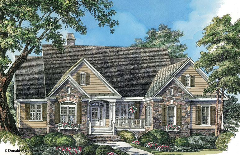 Front rendering of The Satchwell plan 967.