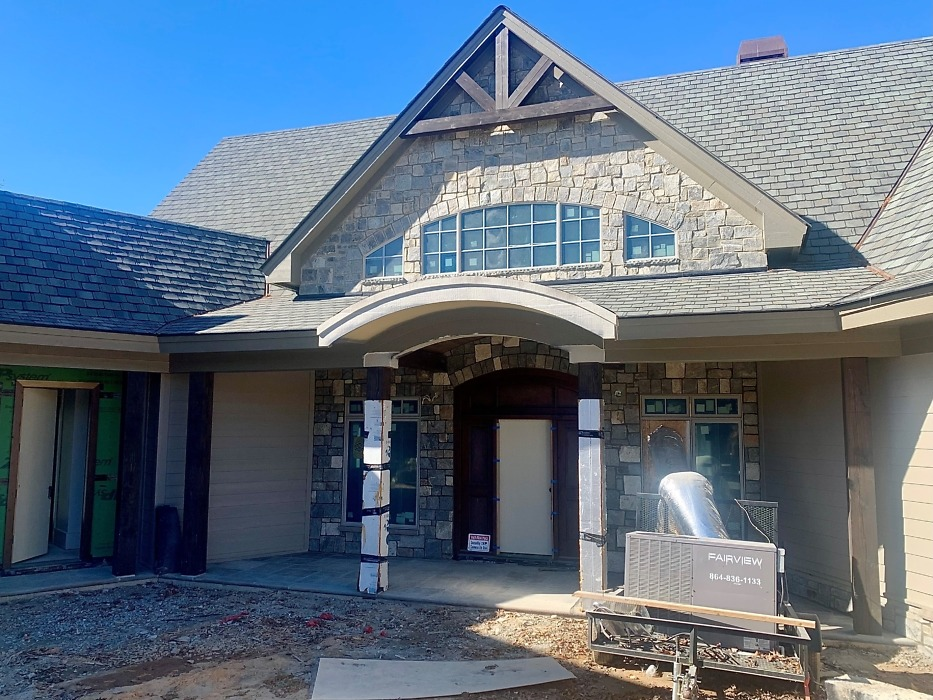 Exterior and interior finishes of The Crowne Canyon Plan 732-D.
