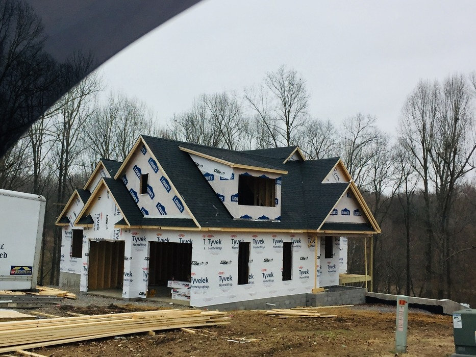Roofing of The Waylon house plan 1414-D.