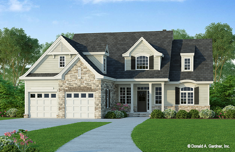 Front rendering of The Ivy Creek house plan 921.