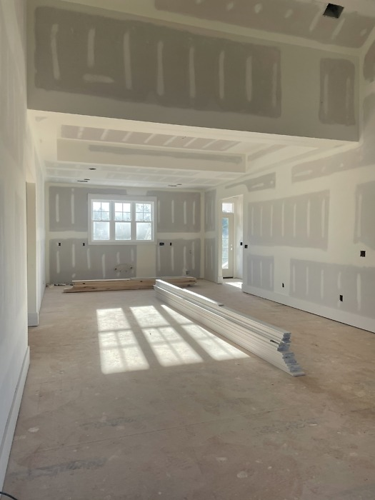 Interior finishes of The Rogers house plan 1383.