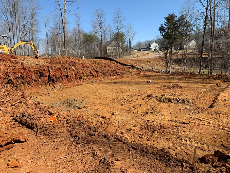 Site clearing of the St. Jude dream home.