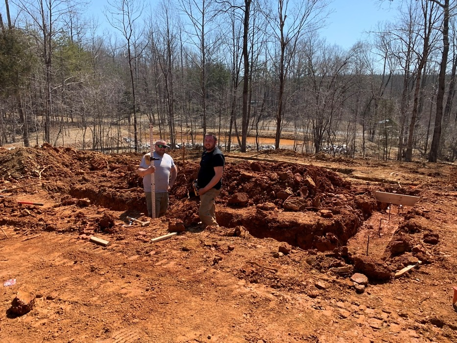 Excavation of The Ivy Creek house plan.