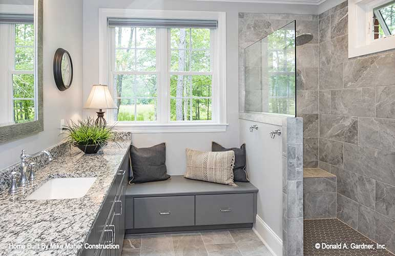Master bathroom of The Charlton for 2021 home construction trends.