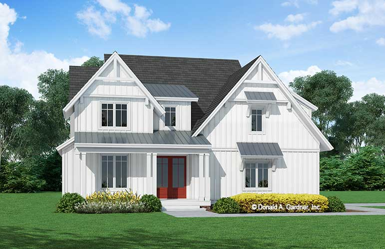 Front rendering of The Fiona house plan 1469.