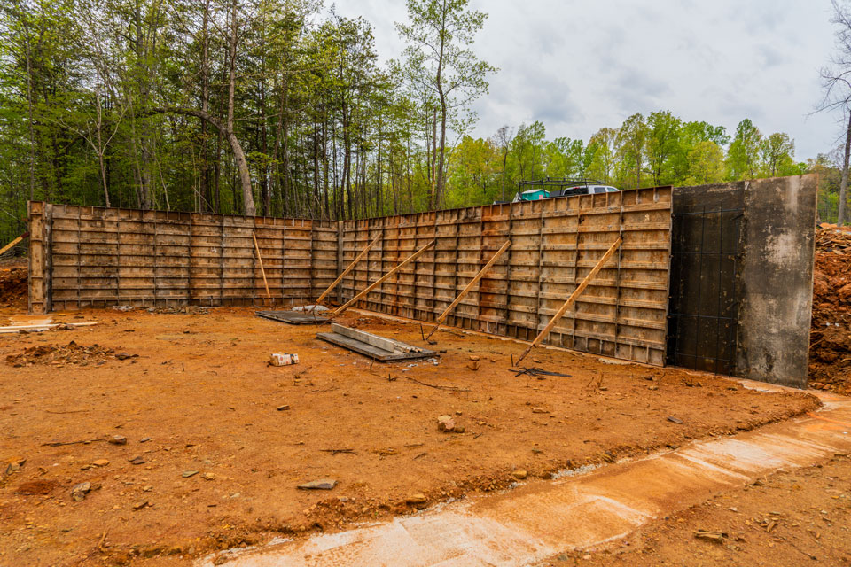 Foundation of The Ivy Creek house plan 921. St. Jude 2021 dream home.