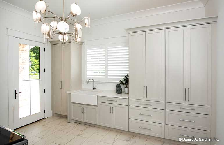 Mudroom of The Sarafine house plan 1403-D.