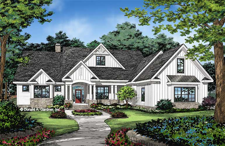Front rendering of The Thurman plan 1515.