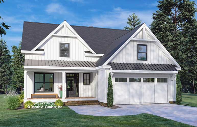 Front rendering of The McKenna house plan 1600.