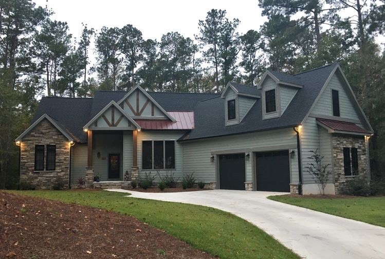 Completed photos of The Hunter Creek House Plan 1326.