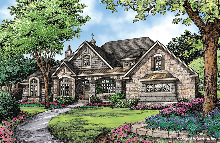 Front rendering of The Markham Plan 1299.
