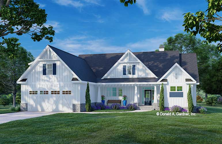Front rendering of The Kevin house plan 1602.