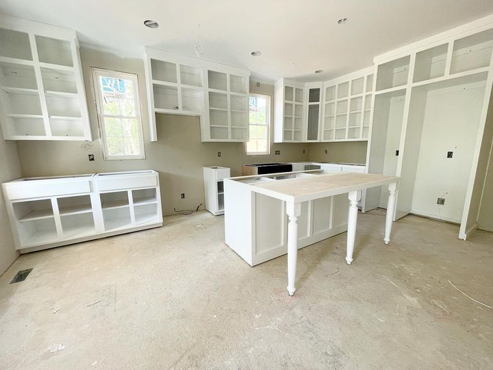 Kitchen cabinets of The Ivy Creek house plan 921.